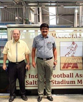 Metro station in Kolkata named after Indian Football Association. (photo:twitter Indian Football Team)