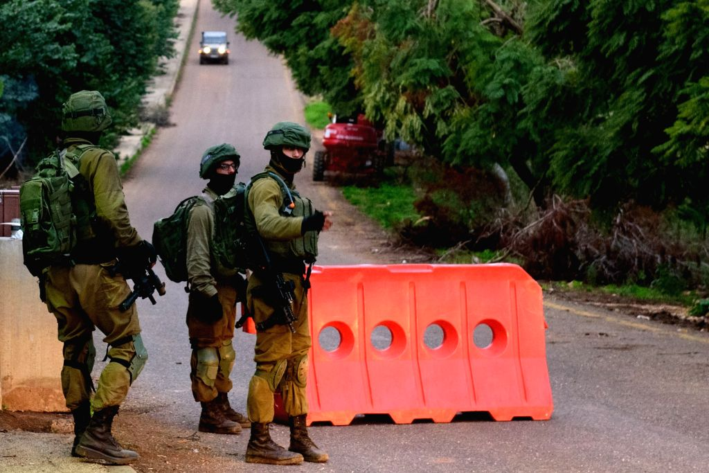 METULA (ISRAEL), Dec. 5, 2018 Israeli soldiers stand guard at a security checkpoint close to the border with Lebanon, near the northern Israeli town of Metula, on Dec. 5, 2018. Israeli ... - Benjamin Netanyahu