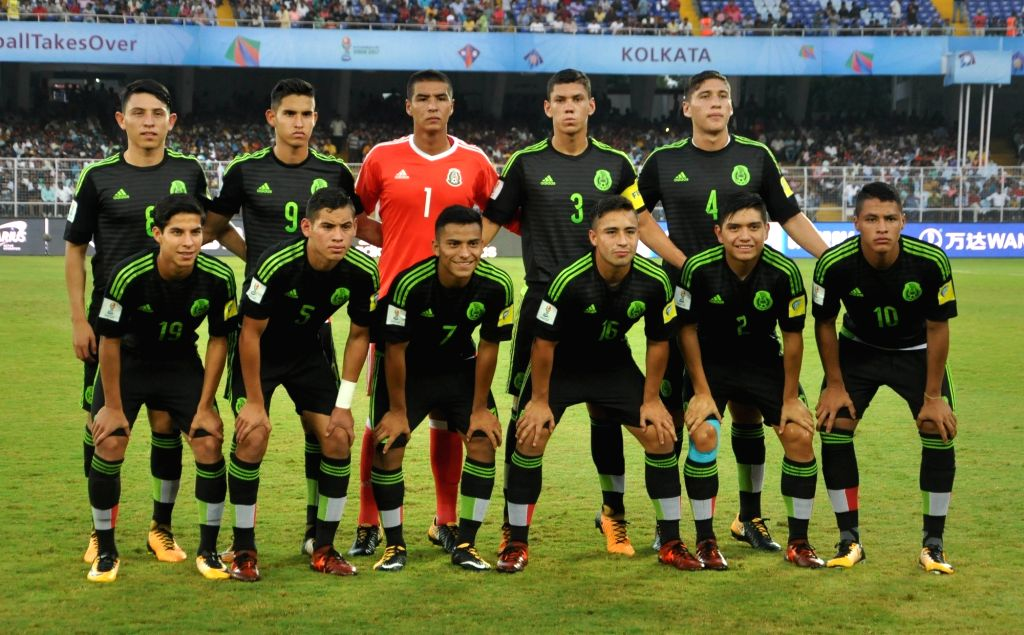 Mexican players during the FIFA U17 World Cup India 2017 Group F match against England at Salt Lake Stadium in Kolkata on Oct 11, 2017.