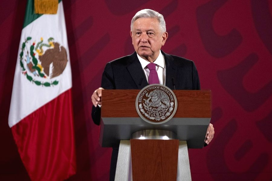 Mexican President Andres Manuel Lopez Obrador speaks during a press conference in Mexico City, Mexico, July 1, 2020.