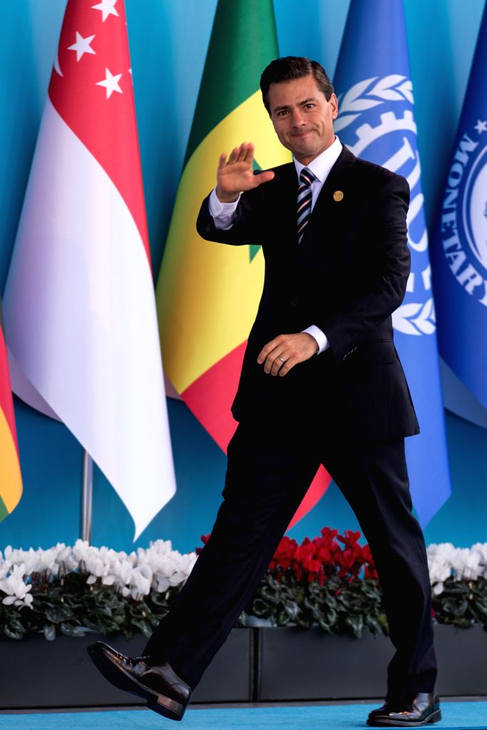 Mexican President Enrique Pena Nieto arrives at the welcoming ceremony of G20 Summit held in Antalya, Turkey, on Nov. 15, 2015. The two-day summit kicked off on ...