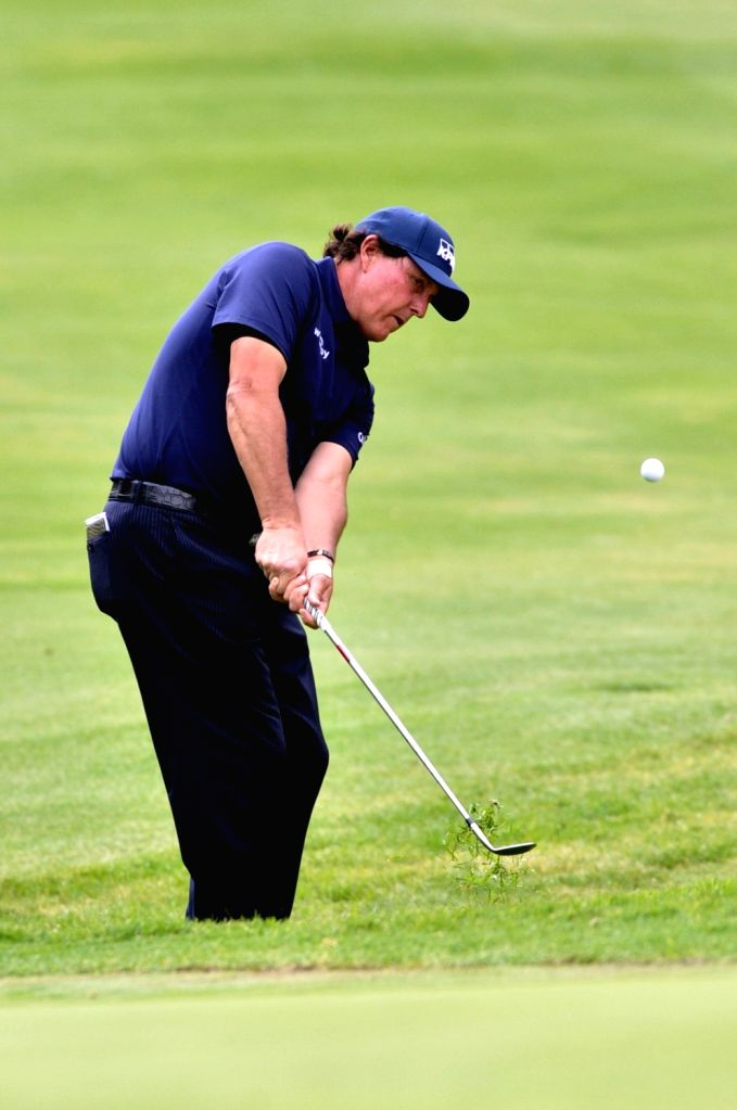 MEXICO CITY, Feb. 23, 2019 - Phil Mickelson of the United States competes during the World Golf Championships-Mexico Championship 2019, held at the Chapultepec Golf Club, in Mexico City, capital of ...