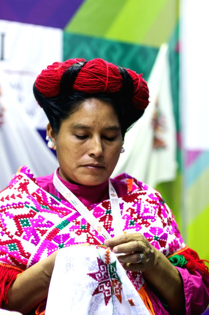 MEXICO CITY, May 7, 2017 - An artisan participate in the 5th Indigenous Peoples Expo at Expo Reforma in Mexico City, capital of Mexico, on May 6, 2017. The 5th Indigenous Peoples Expo is held from ...