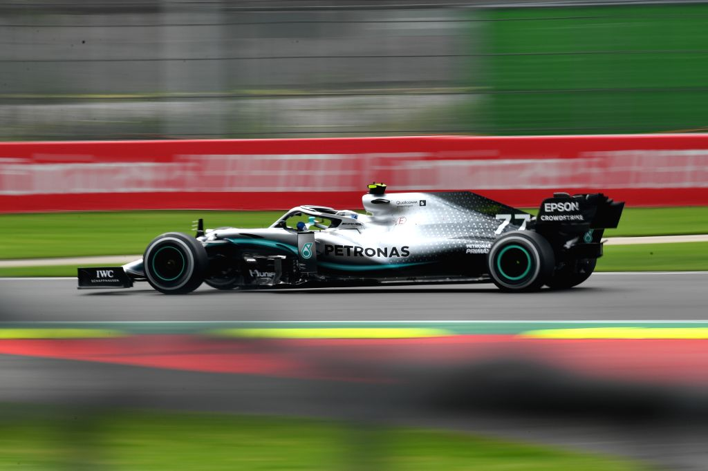 MEXICO CITY, Oct. 26, 2019 - Mercedes' Valtteri Bottas of Finland drives during the second practice session of the Formula One Mexico Grand Prix at the Hermanos Rodriguez Circuit in Mexico City, on ...