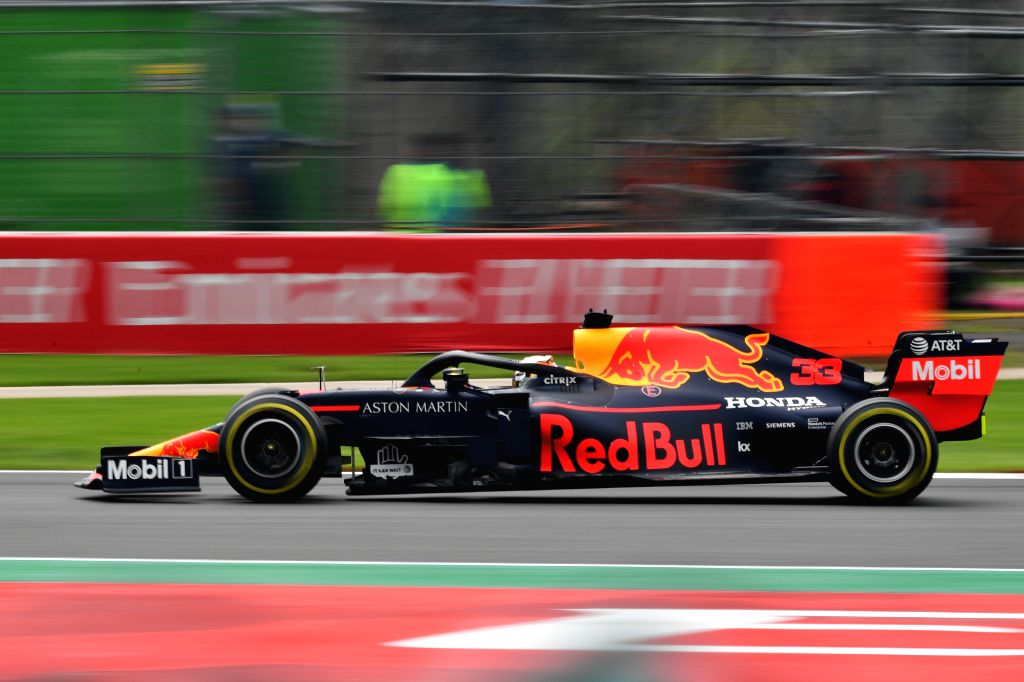 MEXICO CITY, Oct. 26, 2019 - Red Bull's Max Verstappen of the Netherlands drives during the second practice session of the Formula One Mexico Grand Prix at the Hermanos Rodriguez Circuit in Mexico ...