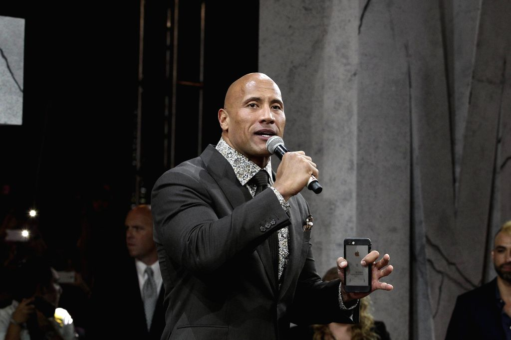Mexico City: US actor Dwayne Johnson is seen at the presentation of his film 'San Andreas' in Mexico City, Mexico, on 23 May 2015. - Dwayne Johnson
