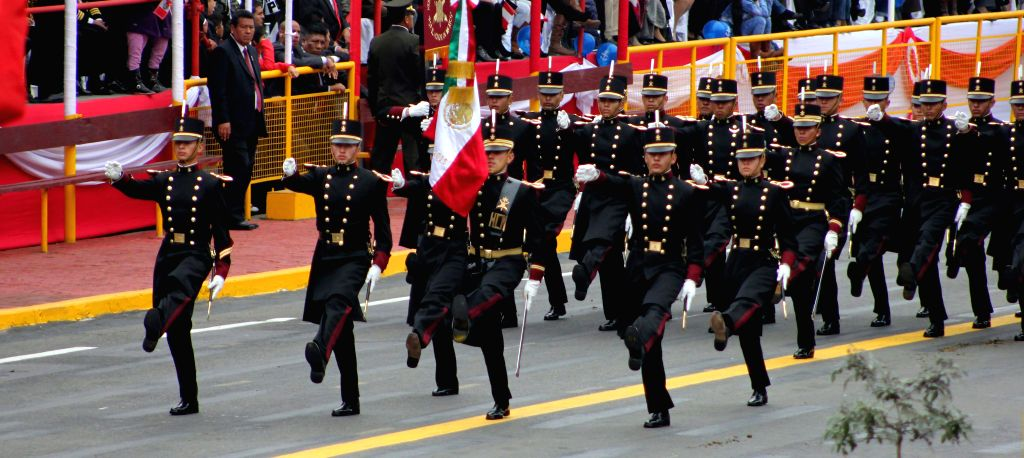 Mexico's military delegation takes part at the Civic-Military Parade to commemorate the 194th anniversary of Peru's Independence in Lima city, capital of Peru, on July ...