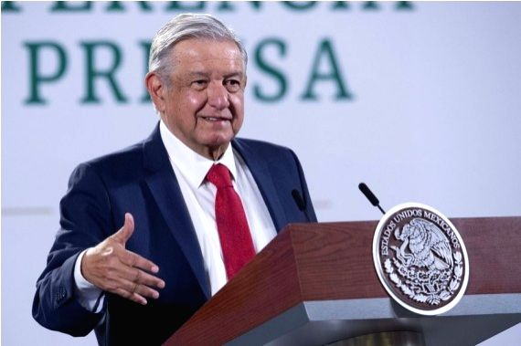 Mexico's President Andres Manuel Lopez Obrador speaks during a press conference in Mexico City, Mexico on Jan. 21, 2021.