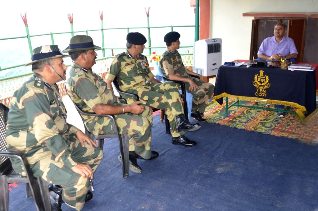 MHA?s Border Management Secretary Susheel Kumar during his visit to India-Bangladesh is interacting with the BSF officials and troopers.