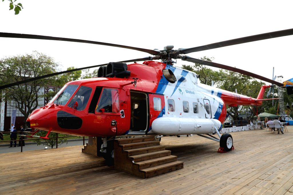 Mi-38, one of the choppers showcased by Russia's Rostec State Corporation's holding firm at the biennial 11th edition of Defexpo 2020 for hard-selling them to Indian customers, in Lucknow on ...