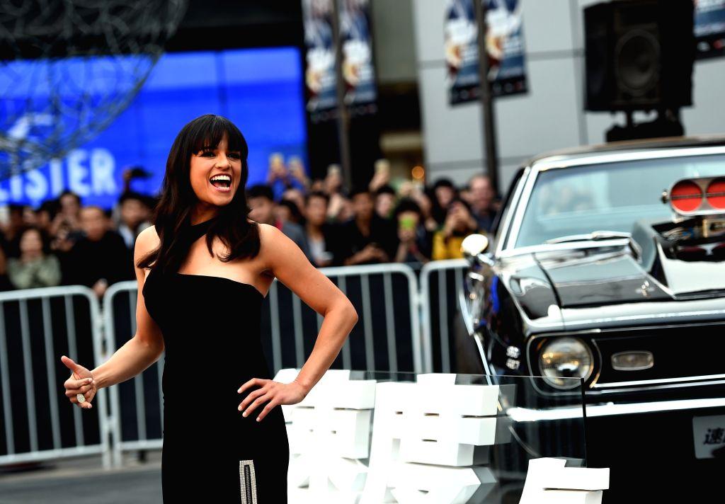 Michelle Rodriguez (File photo: Xinhua/Jin Liangkuai/IANS)(wjq)