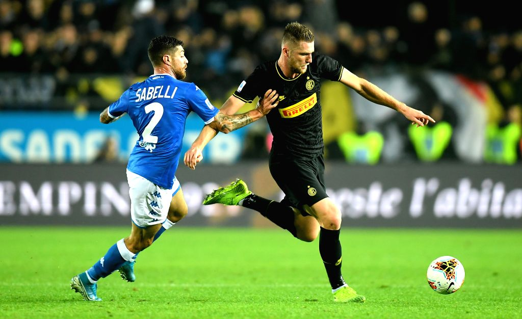 Milan Skriniar (R). (File Photo by Alberto Lingria/Xinhua/IANS)