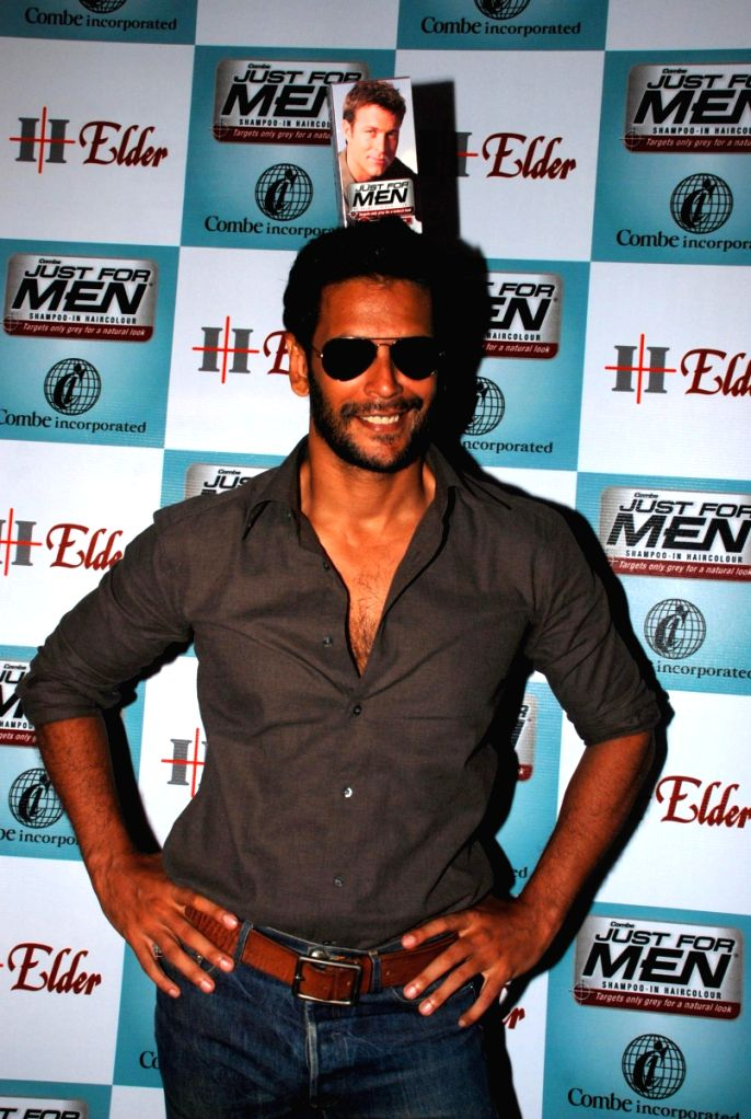 "Milind Soman at Men's hair colour ""Just For Men"" launch."