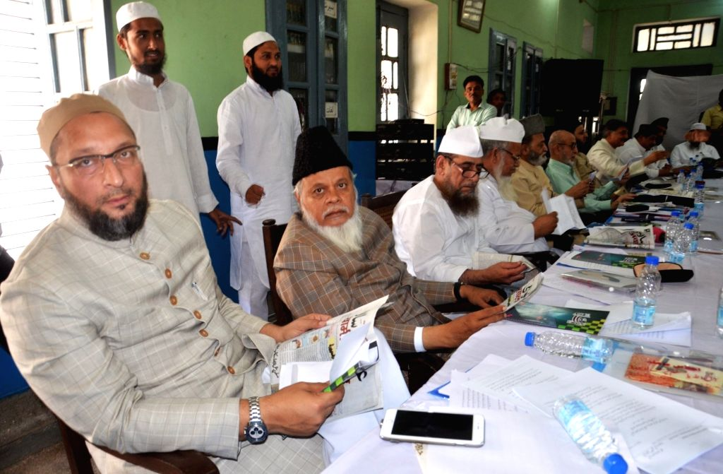 MIM chief Asaduddin Owaisi during an All India Muslim Personal Law Board programme in Lucknow on April 16, 2016.