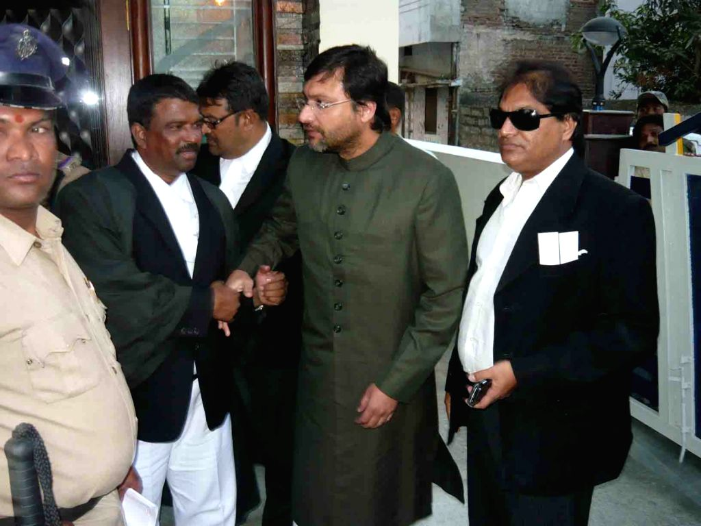 MIM leader Akbaruddin Owaisi, MLA, produced to Nizamabad Judge in connection with hate speech on Jan 24.