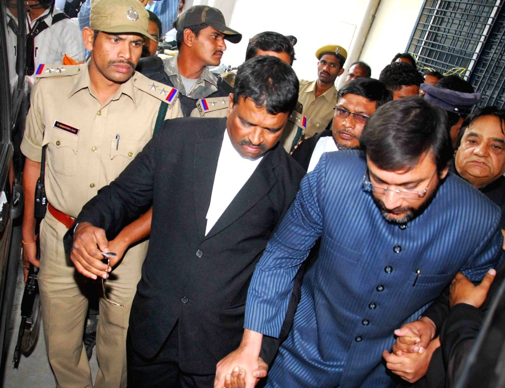 MIM leader Akbaruddin Owaisi taken to police custody for two days for questioning on the alleged hate speech case on Feb. 1.