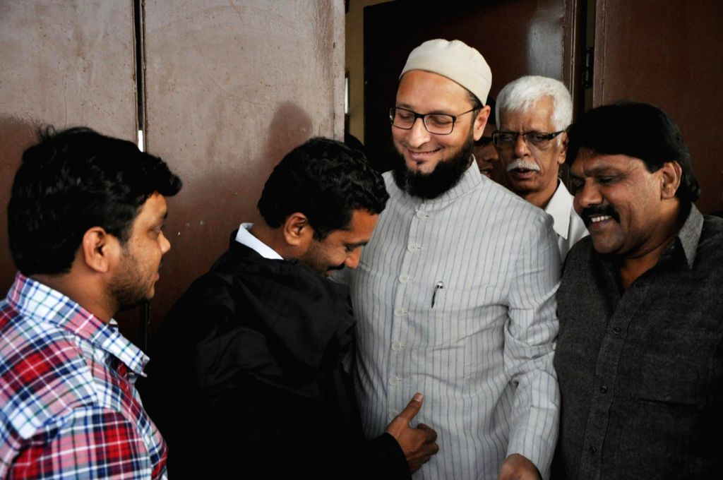 MIM president and Hyderabad MP Asaduddin Owaisi was released on bail from the Sangareddy Jail in Medak district on Jan 24, three days after his imprisonment in connection with a seven-year old case.