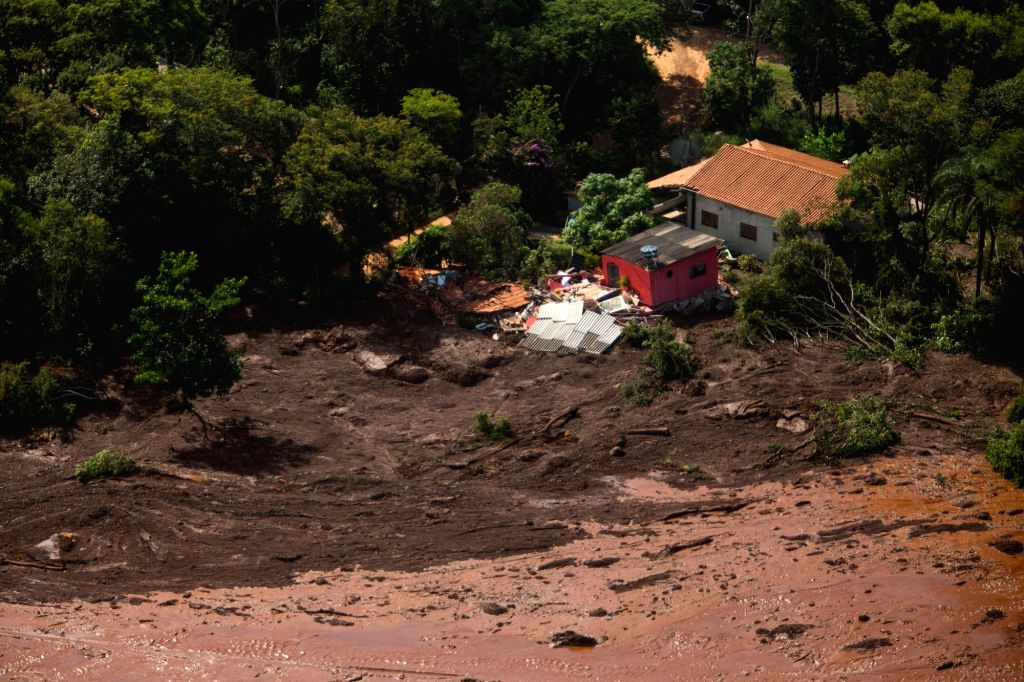MINAS GERAIS (BRAZIL), Jan. 25, 2019 The photo taken on Jan. 25, 2019 shows a view of the site of the collapse of a dam in Brumadinho Municipality in the southeastern state of Minas ...
