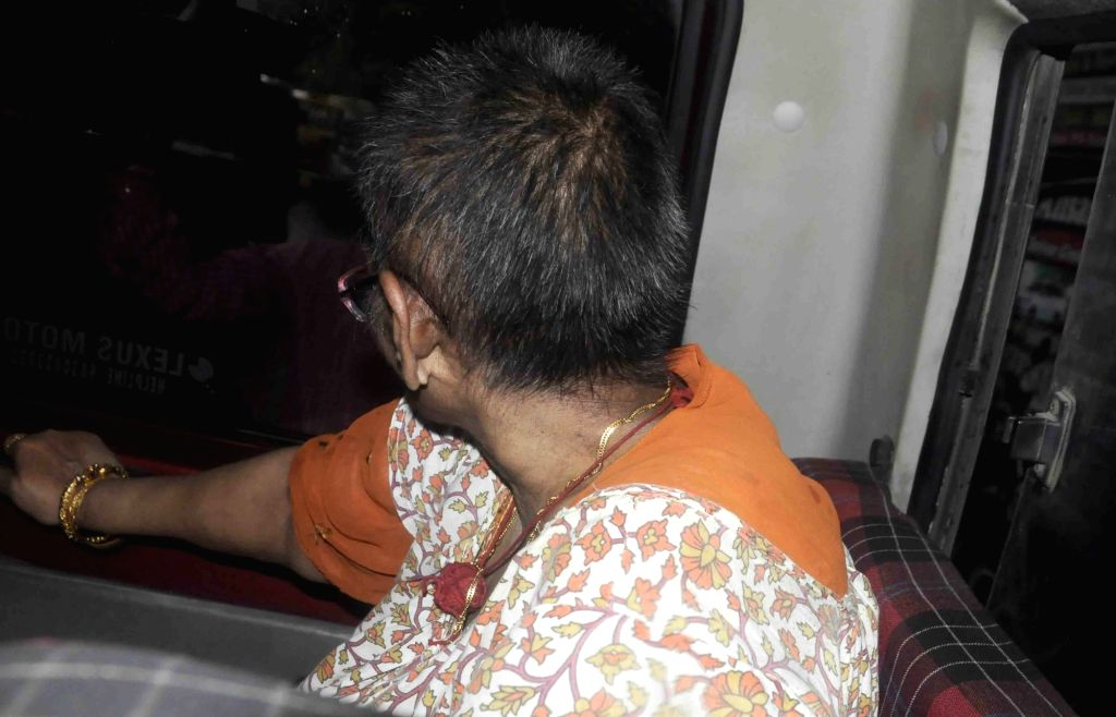 Minati Dey, a mentally disabled woman who was found living with the decomposed body of his septuagenarian brother at Sherwood residential apartment in Narendrapur area, in Sonarpur of West ...