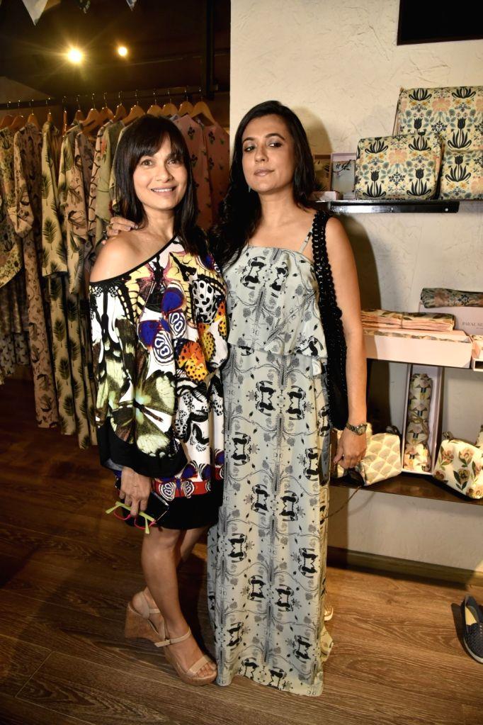 Mini Mathur at Payal Singhal's print Bazaar collection launch in Mumbai on May 31, 2018.
