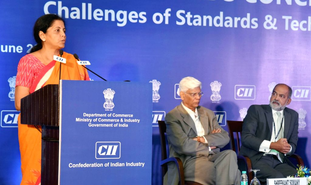 "Minister of State for Commerce and Industry (Independent Charge), Nirmala Sitharaman addresses at the 3rd National Standards Conclave 2016 on ""Challenges of Standards and Technical ..."