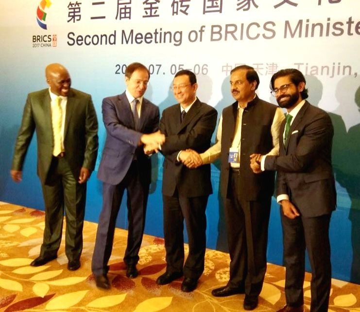 Minister of State for Culture and Tourism (Independent Charge), Dr. Mahesh Sharma at the Second Meeting of BRICS Ministers of Culture in Tianjin, China on July 6, 2017. - Mahesh Sharma