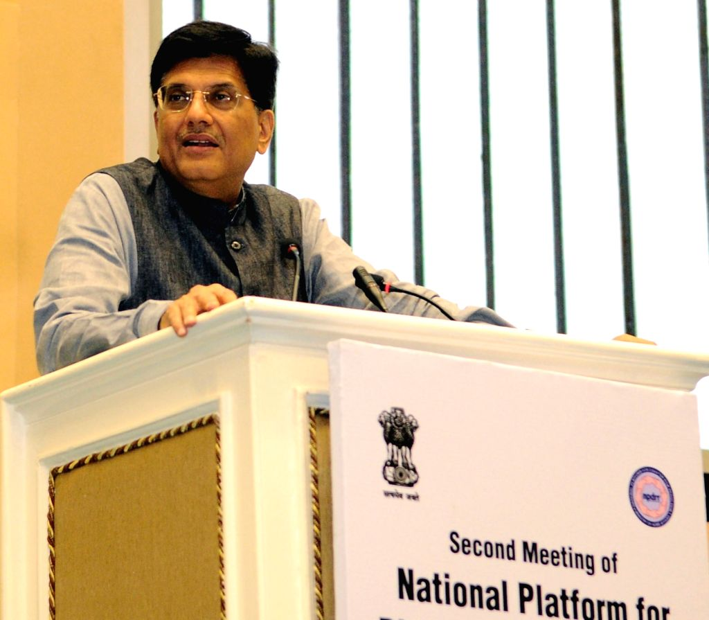 Minister of State for Power, Coal, New and Renewable Energy and Mines (Independent Charge) Piyush Goyal addresses at the Valedictory Session of the second meeting of National Platform for ...