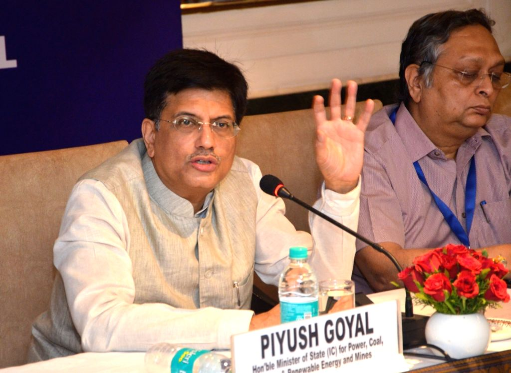 Minister of State for Power, Coal, New and Renewable Energy and Mines (Independent Charge) Piyush Goyal addresses at the 5th Geoscience Advisory Council in New Delhi on June 27, 2017. Also ... - Secretary Arun Kumar