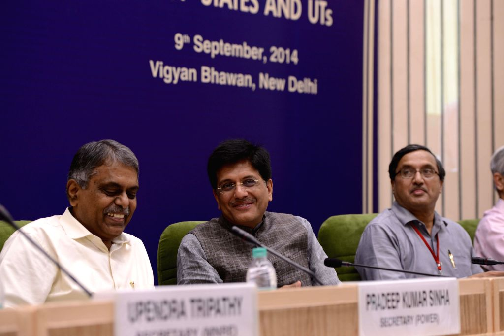 Minister of State (Independent Charge) for Power, Coal and New and Renewable Energy, Piyush Goyal during inauguration of `Conference of Power Ministers of States/UTs`, in New Delhi on September 09, ..
