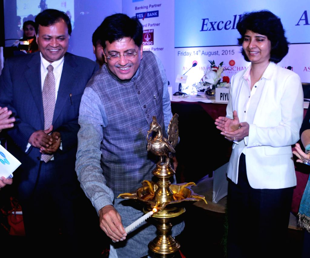 Minister of State (Independent Charge) for Power, Coal and New and Renewable Energy Piyush Goyal during a Corporate Governance Summit-Cum-Excellence Awards in New Delhi, on Aug 14, 2015.