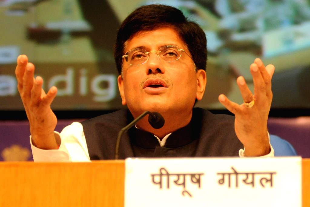 Minister of State with Independent Charge for Power, Coal and New & Renewable Energy Piyush Goyal addresses a press conference in New Delhi on Sept 7, 2014.