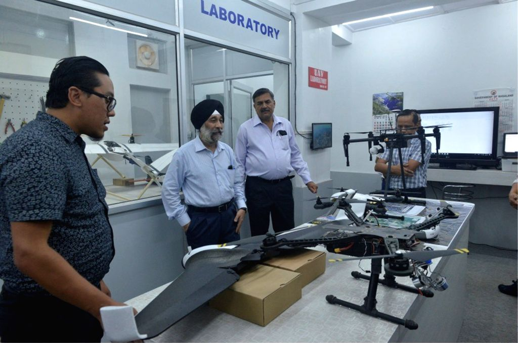 Ministry of Development of North Eastern Region (DoNER) Secretary Inderjit Singh during his visit to Nagaland GIS and Remote Sensing Centre in Kohima, on Aug 9, 2019. - Inderjit Singh