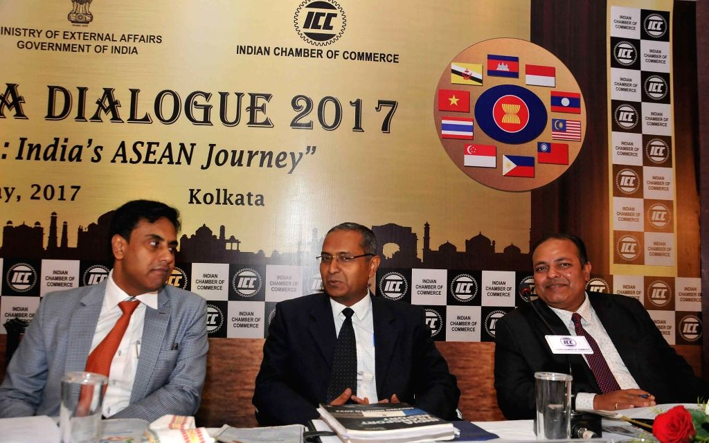 Ministry of External Affairs Joint Secretary(ASEAN-ML) Anurag Bhushan, NITI Ayog Advisor Manoj Singh and Indian Council of World Affairs Joint Secretary Piyush Srivastav during Kolkata ...