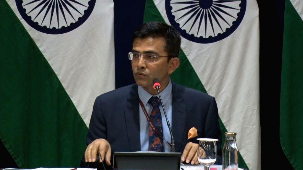 Ministry of External Affairs (MEA) Official Spokesperson Raveesh Kumar addresses a press conference, in New Delhi on Jan 9, 2020. - Spokesperson Raveesh Kumar
