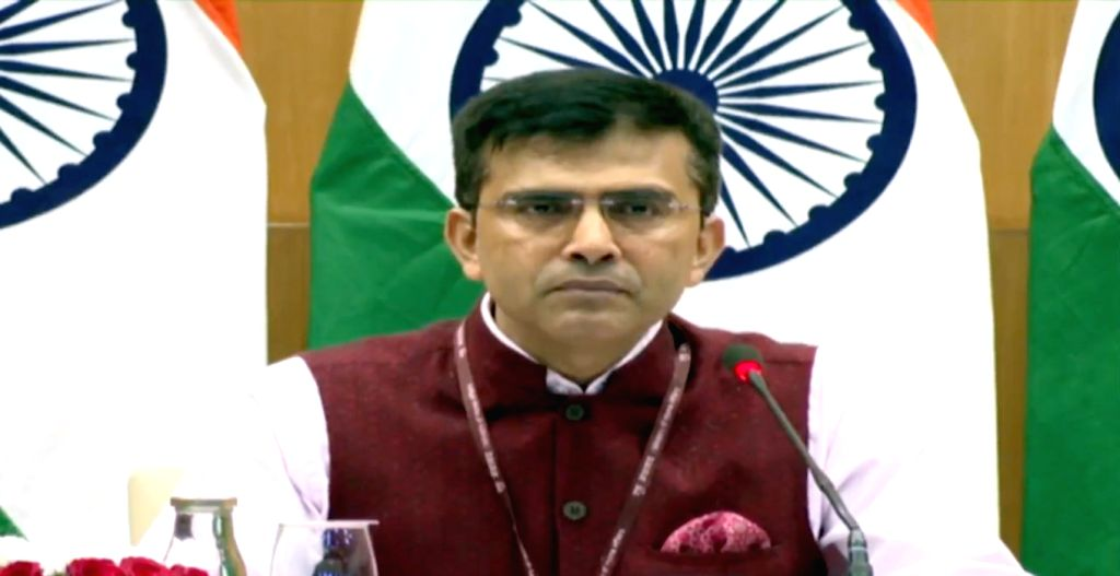 Ministry of External Affairs Spokesperson Raveesh Kumar addresses a press conference, in New Delhi on Sep 12, 2019.