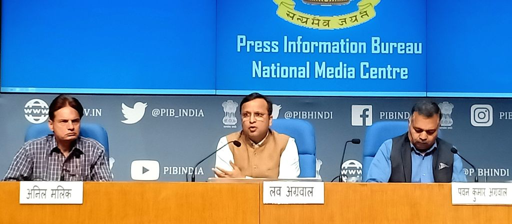 Ministry of Health & Family Welfare Joint Secretary Lav Agarwal addresses a press conference on 'COVID-19: Preparedness and Actions taken', in New Delhi on March 21, 2020.