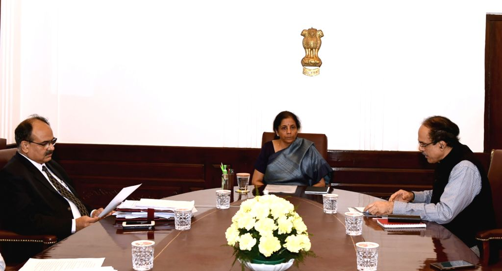 Ministry of Micro, Small & Medium Enterprises (MSME) Secretary Arun Kumar Panda meets Union Finance and Corporate Affairs Minister Nirmala Sitharaman, to review the economic impact of ... - Nirmala Sitharaman and Arun Kumar Panda
