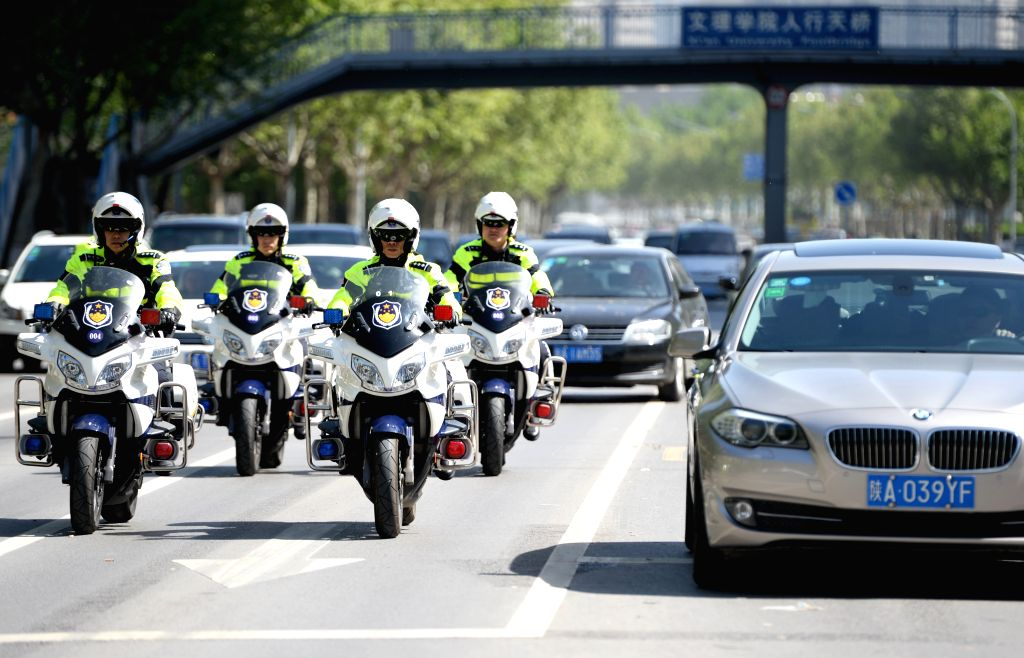MIRNA PEC (SLOVENIA), April 17, 2017 Motorcyclists gather to take part in the traditional blessing of motorbikes at the beginning of the bikers season in Mirna Pec, Slovenia on April 17, ...