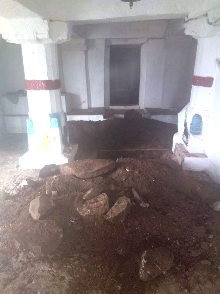 Miscreantsdug up Parvati temple in Karnataka expecting treasure.