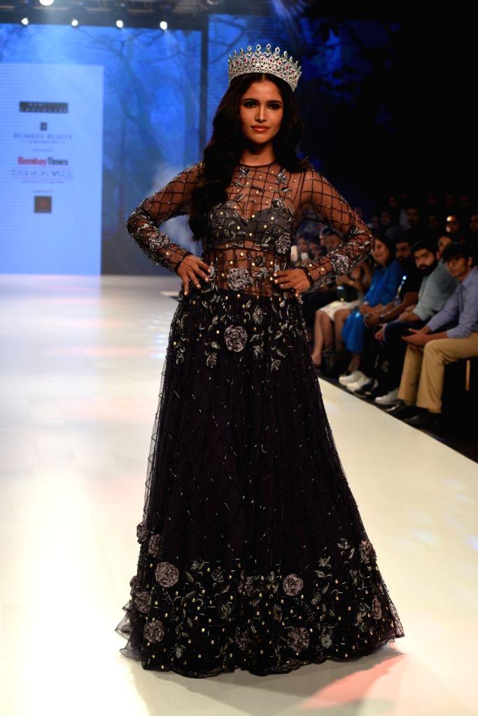 Miss Diva Universe 2019 Vartika Singh at the Bombay Times Fashion Week in Mumbai on Oct 12, 2019. - Vartika Singh
