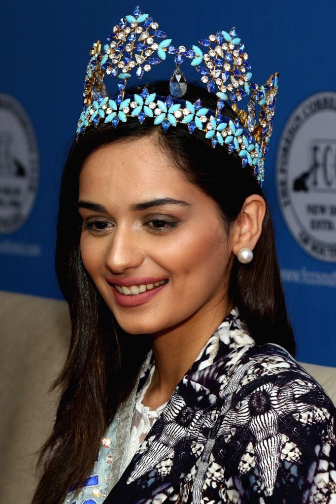 "Miss World 2017 Manushi Chhillar during the announcement of ""Freedom From Shame' of menstruation is essential for healthy and happier women - humanitarian world tour on menstrual ..."