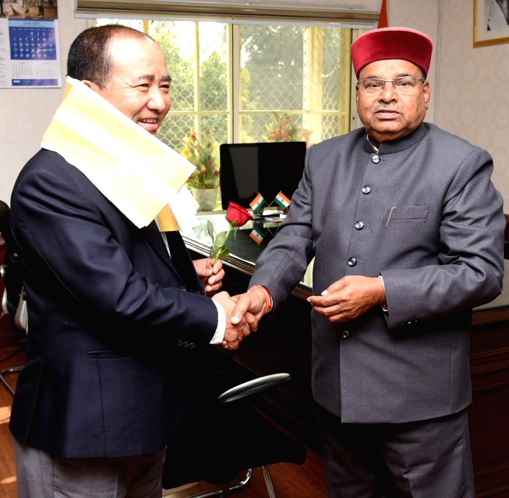 Mizoram's Minister of State (I/C) Animal Husbandry, Social Welfare and Sericulture K. Beichhua calls on Union Social Justice and Empowerment Minister Thaawar Chand Gehlot, in New Delhi on ... - Thaawar Chand Gehlot
