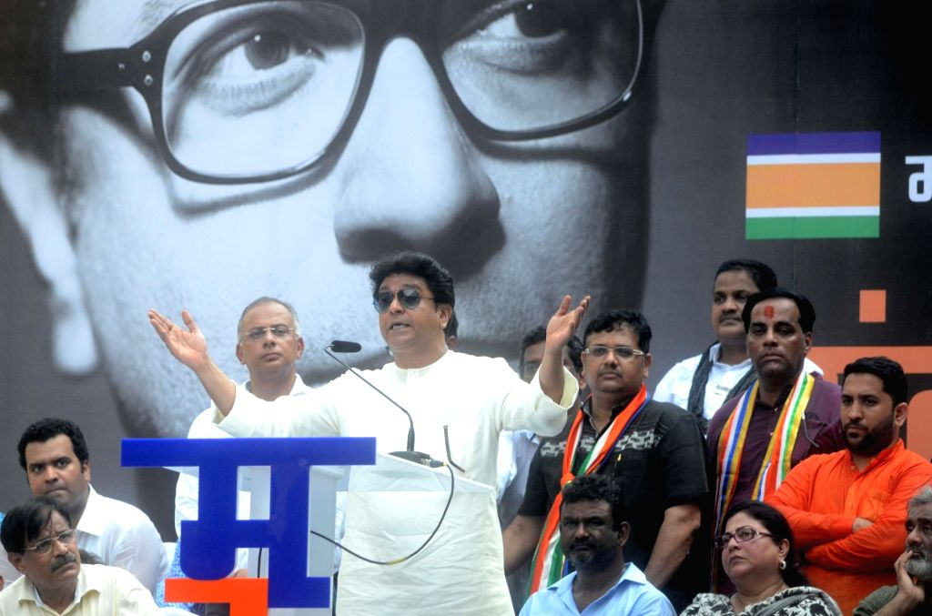 MNS chief Raj Thackeray addresses during Santap rally organised against Elphinstone Road railway station stampede that killed 23 people and left over 30 injured, in Mumbai on Oct 5, 2017.