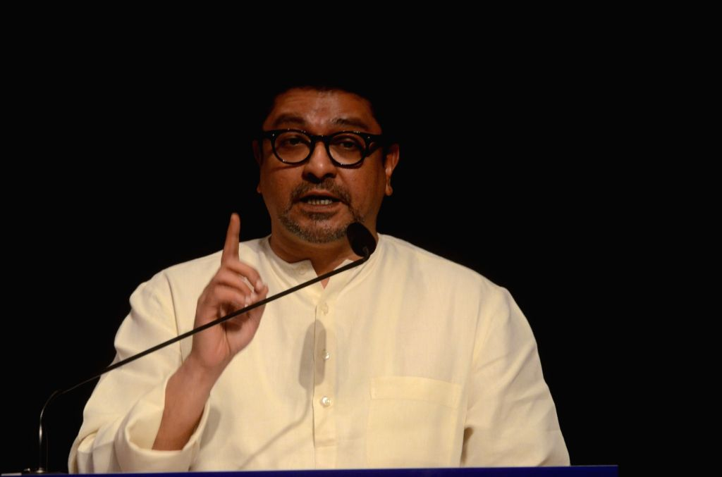 MNS chief Raj Thackeray addresses during the party's 11th anniversary celebration in Mumbai on March 9, 2017.