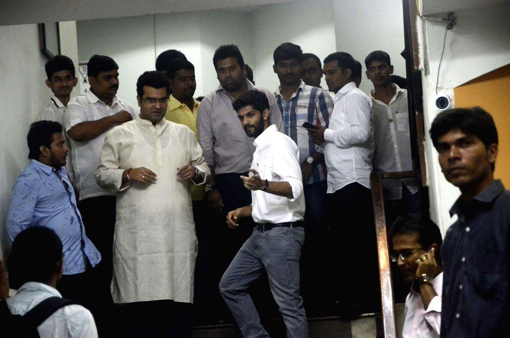MNS chief Raj Thackeray's son Amit arrives to attend a meeting of Maharashtra Navnirman Vidyarthi Sena in Mumbai on July 11, 2014.