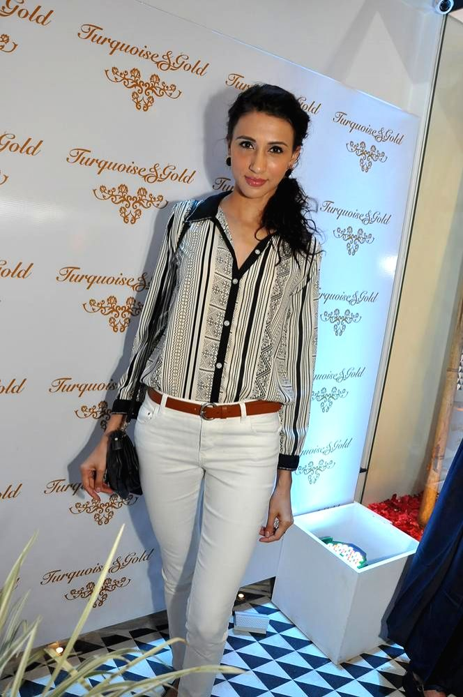 Model Alesia Raut during the launch of Turquoise & Gold store in Mumbai on April 16, 2014. - Alesia Raut