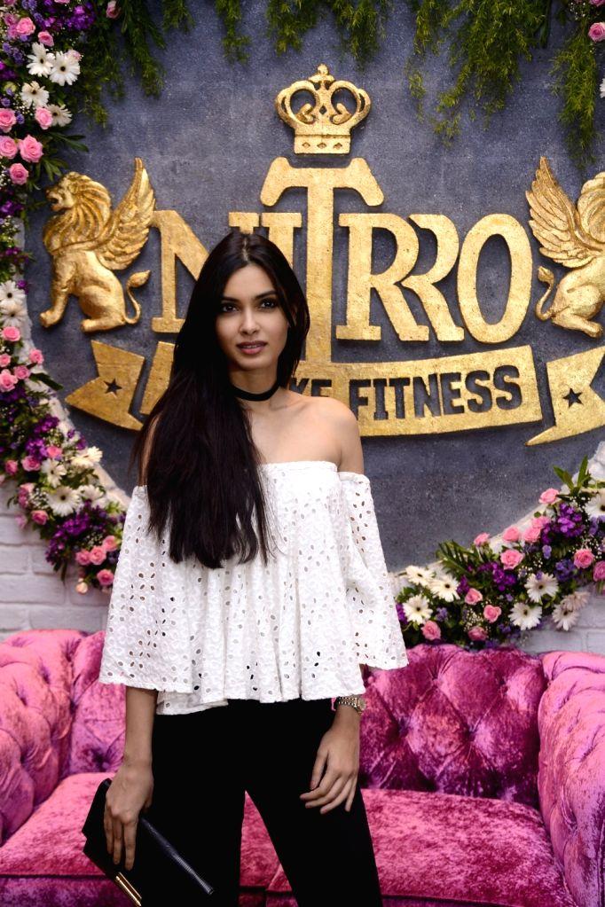 Model and film actress Diana Penty during Praboddh Davkharey, MD, Nittro Gym birthday party celebrations, in Mumbai, on May 29, 2017. - Diana Penty