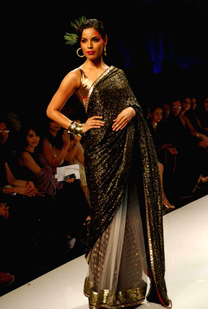 Model are at the ramp for Zubir Kirmani collection during the Kolkata Fashion Week on 3rd April 2009.