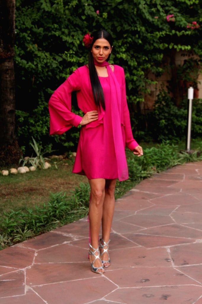Model Candice Pinto during the press conference of Gionee India Beach Fashion Week (GIBFW) 2015 in Mumbai on Oct 20, 2015. - Candice Pinto