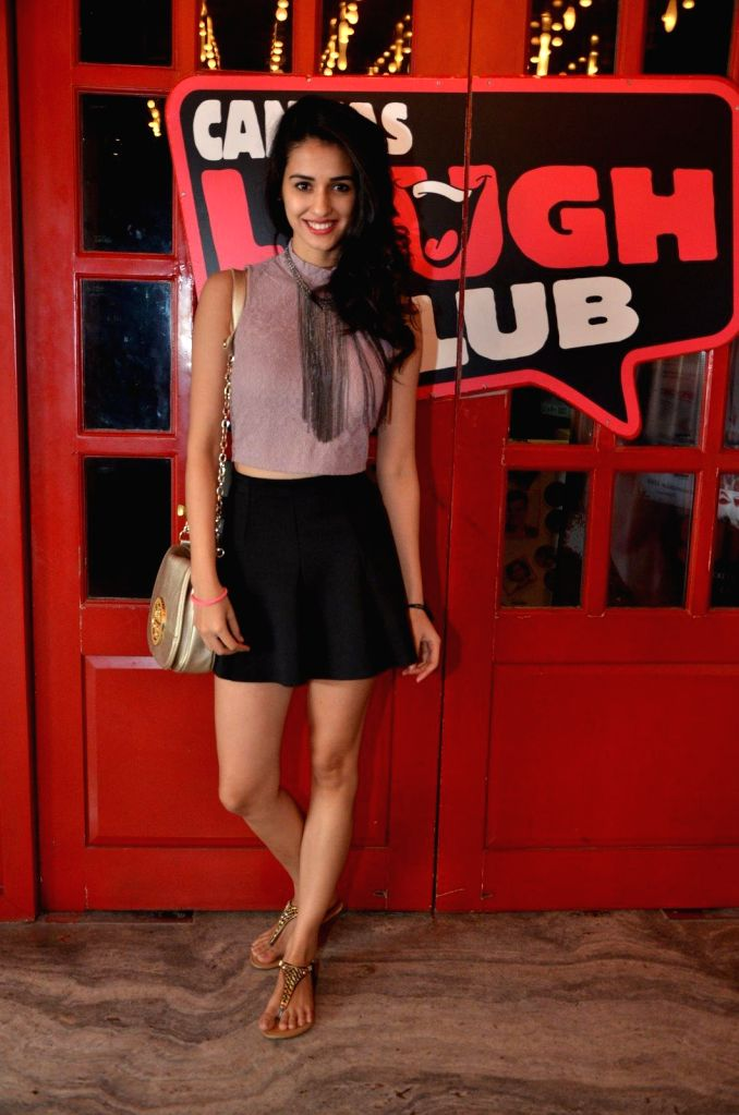 Model Disha Patani at Comedian Nitin Mirani's performing stand-up comedy at Canvas laugh Club in Mumbai on Jan 10, 2015. - Disha Patani